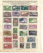 0620q: Lot Frankreich Colonies 2 Scans (aus Schaubeck- Falzalbum, Falze Können Einfach Entfernt Werden) - France (ex-colonies & Protectorats)