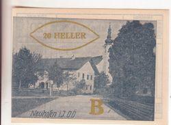 207-Banconote-Carta Moneta Di Emergenza-NOTGELD-Austria-Osterraich-Emergency Money-20 Heller-1920-Serie B Oro. - Oostenrijk