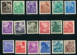 1953, Fünfjahresplan 18 Werte Komplett Postfrisch. - Ungebraucht