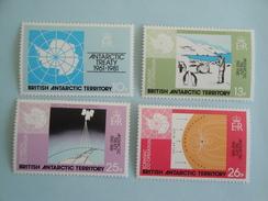 1981 Antarctique Britannique BAT Yvert 101/4 ** Traité Antarctique Scott 82/5 Michel 84/7  SG  99/102 - British Antarctic Territory  (BAT)