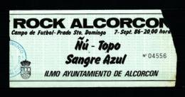 FESTIVAL ROCK ALCORCON  (1986) - Concert Tickets