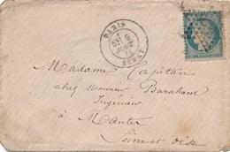 Lettre N°60 Paris Etoile 6 Senat - Marcophilie (Lettres)