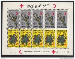 Morocco MH Scott #B22a Sheet Of 5 Tete-beche Pairs: Jewelry - Brooch, Stomacher - Maroc (1956-...)