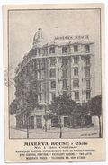 CPA Le Caire Cairo Egypte Egypt Hôtel Minerva House 1 Rue Centrale écrite Timbrée 1929 - Le Caire