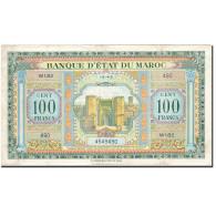 Maroc, 100 Francs, 1928-1929, KM:27A, 1943-05-01, TTB+ - Maroc
