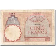 Maroc, 5 Francs, 1941, KM:23Ab, 1941-11-14, TTB - Maroc