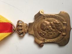 Medalla Homenaje Ayuntamientos A Alfonso XIII. 1925. España - Spagna