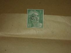 Annulation Cachet Facteur OR Sur TP Marianne Gandon 809 5F Sur Document Convocation Limony 07 Ardèche - Marcophilie (Lettres)