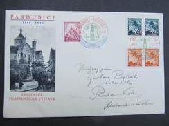 BRIEF Pardubice - Praha SSt. Briefmarkenausstellung 1940 /// D*26559 - Böhmen Und Mähren