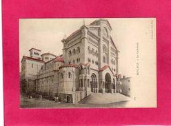MONACO, La Cathédrale, Rare Noir Et Blanc Toit Rouge,  Animée, (ND Phot) - Kathedrale Notre-Dame-Immaculée