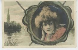 FEMMES - FRAU - LADY - SPECTACLE - ARTISTES - Jolie Carte Fantaisie Avec Paillettes Portrait Artiste WIEHE - Femmes