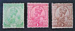 EFFIGIE DE GEORGE V 1911/26 - NEUFS ** - YT 76/78 - Indien (...-1947)