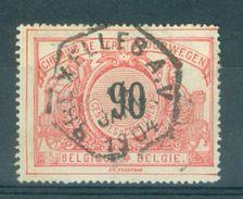 """BELGIE - OBP  TR 25 - Cachet Hexagonal  """"BRUXELLES - A.V."""" - (ref. 14.055) - Chemins De Fer"""