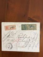 Lettre Recommandée Pour Rennes Avec Merson N°143 - 1900-27 Merson