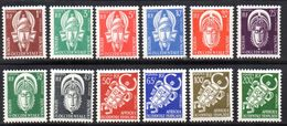 Col 4/ AOF Afrique Service  N° 1 à 12 Neuf X MH Cote 50,00€ - A.O.F. (1934-1959)