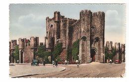 Gent - Graven Kasteel - Gekleurde Fotokaart - Geanimeerd - Oldtimer - 1954 - Gent