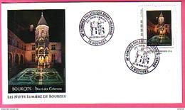 TIMBRAMOI BOURGES HOTEL DES ECHEVINS NUITS ET LUMIERE CACHET EXPO 24 - 25 MARS 1912 - Monuments