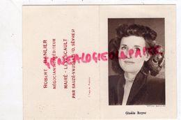 79 - SAUZE VAUSSAIS- PETIT CALENDRIER 1952- ROBERT BANLIER NEGOCIANT EXPEDITEUR - MAIRE LEVESCAULT - GISELE BOYER - Calendars