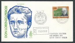 1972 VATICANO FDC VENETIA 121 PEROSI TIMBRO ARRIVO - KV3 - FDC