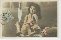 ENFANTS - Jolie Carte Fantaisie Enfant Saint Jean Avec Ses Moutons - Portraits