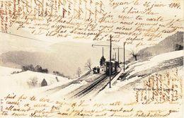 CHEMIN DE FER AIGLE-LEYSIN - HALTE AVEC ANIMATION - DOS UNIQUE - 27.06.1904 - VD Vaud