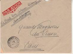 Lettre-Pointe Noire Pour Paris-17 Juillet 1937. - A.E.F. (1936-1958)