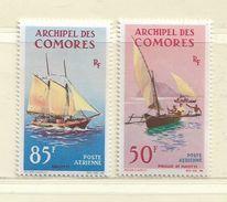 COMORES ( FRCOM - 24 )  1964  N° YVERT ET TELLIER   N°  10/11     N* - Airmail