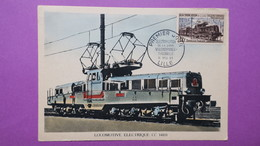 Carte-Maximum N° 1024 Eléctrification De La Ligne Valenciennes-Thionville - Cartoline Maximum