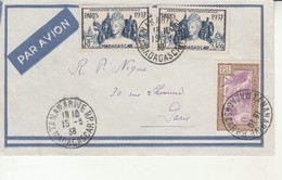Lettre-Madagascar-Tananarive Pour Paris-15 Mars 1938. - Madagascar (1889-1960)