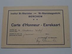 St. STANISLAS Instituut / Gesticht BERCHEM ( Leclef ) Anno 1922 ( Carte D'Honneur - Eerekaart ) PK Rome / Italy ! - Ecoles