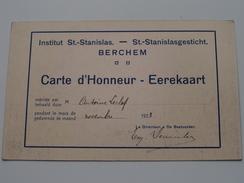 St. STANISLAS Instituut / Gesticht BERCHEM ( Leclef ) Anno 1923 ( Carte D'Honneur - Eerekaart ) PK Athene / Greece ! - Ecoles