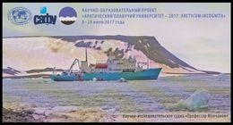 "RUSSIA 2017 ENTIER POSTCARD 277/5 SHIP ""Professor Molchanov"" SCIENCE RESEARCH ARCTIC POLAR NORD SCHIFF BATEAU TRANSPORT - Bateaux"