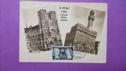 Carte-Maximum N° 1061 Cathédrale De Reims Et De Florence - Maximum Cards