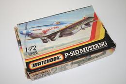 Vintage MODEL KIT : Matchbox P-51D Mustang, Scale 1/72, Vintage, + Original Box - Avions & Hélicoptères