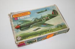 Vintage MODEL KIT : Matchbox P-40N Warhawk Kittyhawk, Scale 1/72, Vintage, + Original Box - Luchtvaart