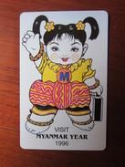 Urmet Phonecard,Visit Myanmar Year 1996,mint - Myanmar