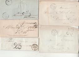 Lettre-Lot De 8 Marques Postales. - 1701-1800: Précurseurs XVIII