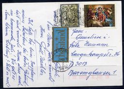 "AUSTRIA 1992 Christmas Postcard With ""über Christkindl"" Label.  ANK LZ.4 - 1945-.... 2nd Republic"