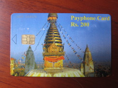Chip Phonecard, UNESCO Heritage Boudhanath,mint - Nepal