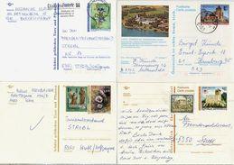 AUSTRIA 1987-97 Four Postally Used Stationery Cards. - Entiers Postaux