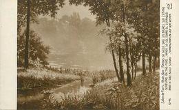A-17-8181 : SALON DE PARIS.  RAYONS DE SOLEIL DANS LES BRUMES DE L ETANG PAR HENRI BIVA - Paintings