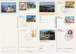 AUSTRIA 1975-92 Fourteen Stationery Cards. C.t.o.. - Stamped Stationery
