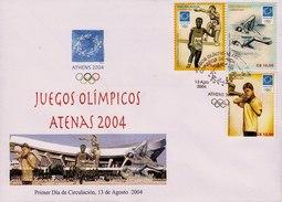 NICARAGUA ATHENS SUMMER OLYMPIC GAMES Sc 2431-2433 FDC 2004 - Nicaragua