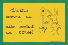 Buvard  -  CORSET - DROITE COMME UN (i) - Buvards, Protège-cahiers Illustrés