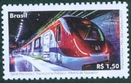 BRAZIL 2017 -  PUBLIC  TRANSPORTATION  -  SUBWAY  OF SALVADOR - MERCOSUL SERIE -  MNH - Unused Stamps