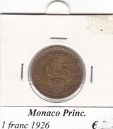 MONACO   1 FRANC   ANNO 1926  COME DA FOTO - 1922-1949 Luigi II