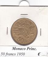 MONACO   50 FRANCS   ANNO 1950  COME DA FOTO - Monaco