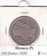 MONACO   100 FRANCS   ANNO 1950  COME DA FOTO - Monaco