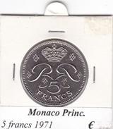 MONACO   5 FRANCS   ANNO 1971  COME DA FOTO - Monaco