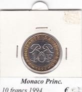 MONACO   10 FRANCS   ANNO 1994  COME DA FOTO - Monaco